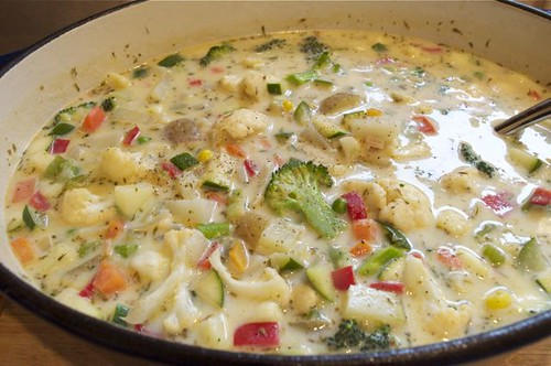 vegetable chowder with herbs feature 1