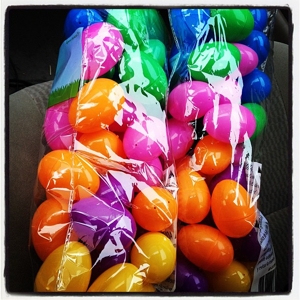 Lots of eggs for our youth group egg hunt in a couple weeks!