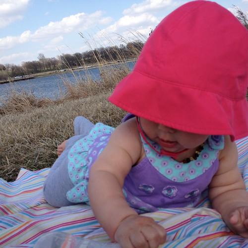 baby at the lake