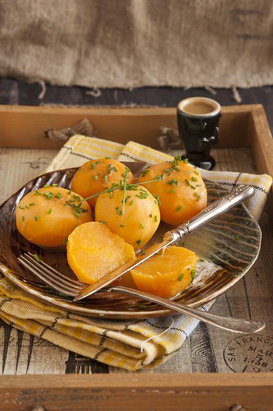 Glazed turnips