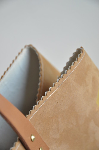 Leather and gold bag :: DIY instructions