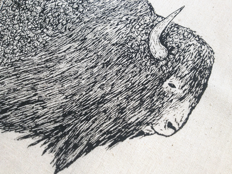 The Bison close-up