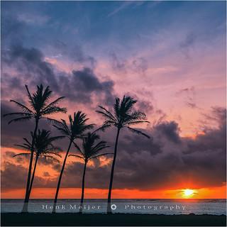Sunrise Kapaa Beach Park - Kauai - Hawaii