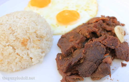 Filipino Breakfast Beef Tapa, Garlic Rice and Fried Eggs