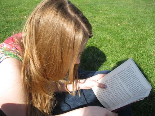 Abbie reading