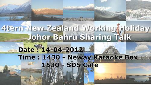 4tern纽西兰打工渡假在新山