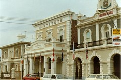Murray Street 93 to 89 ANZ Bank, Gawler Institute and Gawler Town Hall, c.1980s