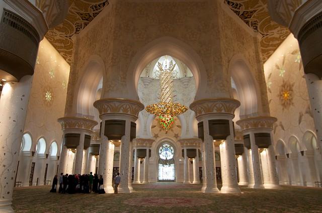 La espectacular Mezquita Sheikh Zayed en Abu Dabi 7088170313_005c652783_z