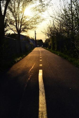 sunset ohio sun bike dusk path north trail cycle oh inland bicyle