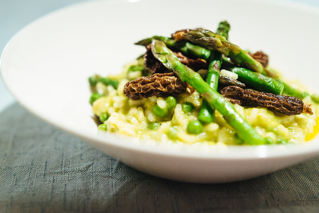 Risotto with asparagus, peas and morels | Flickr - Photo Sharing!
