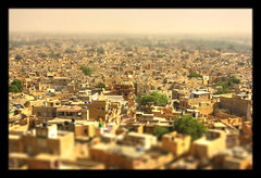Jaisalmer IND - Golden City of India - Tiltshift