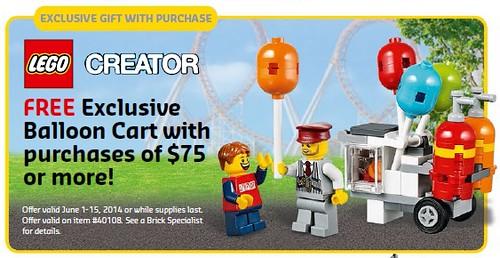 LEGO Creator Balloon Cart
