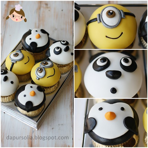 Cupcake Set: Panda Minion Penguin