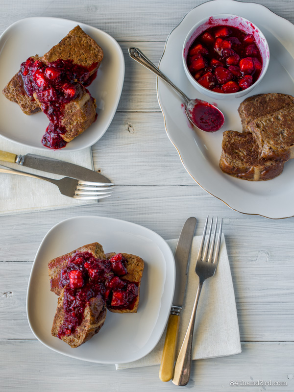Hot Cross Bun French Toast & Mixed Fruit Compote