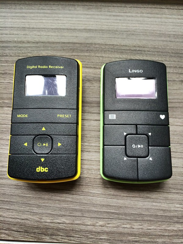 Old & new Lingo DAB+/FM pocket radio