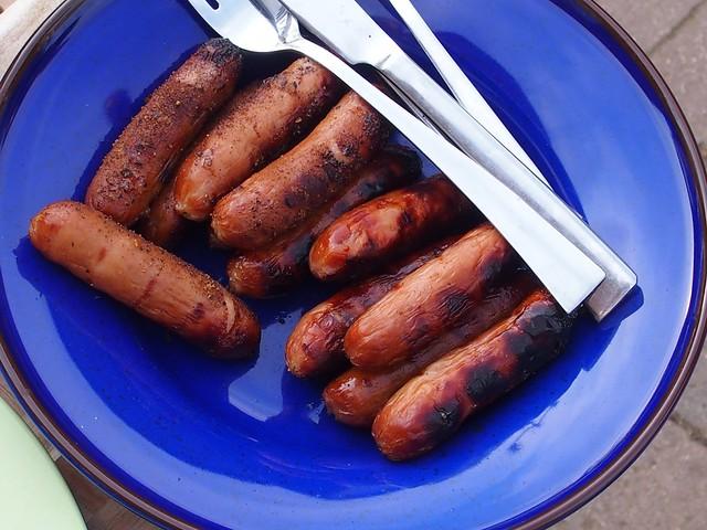 BBQ'd sausages