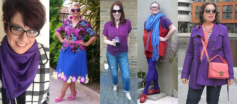 Fashion bloggers in purple #iwillwearwhatilike