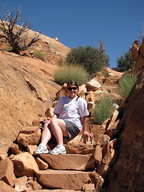 Karen on the Trail