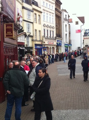 This is the queue outside the Hippodrome for Lion King tickets. #Bristol by benparkuk