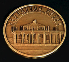 Manhattan Beach centennial bronze medal