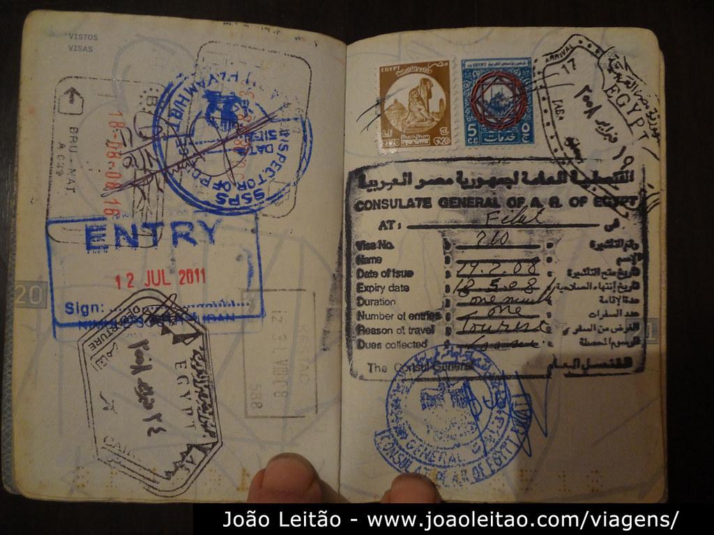 Vistos para o Egipto, Visto Egipto
