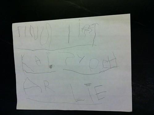 Finn's list, page 1
