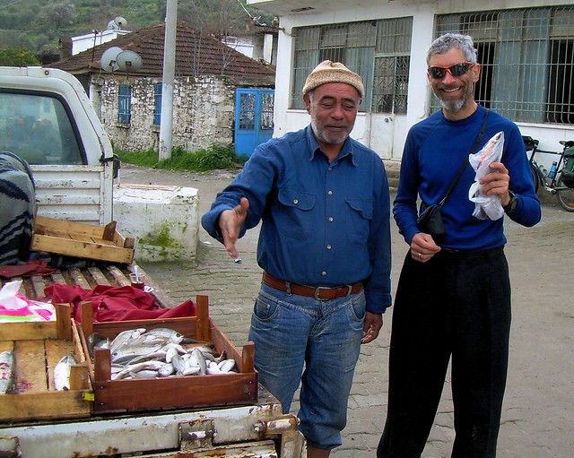 This fishmonger gave us three fish which Kurt cooked for lunch by bryandkeith on flickr