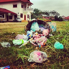 Beautiful Laos - or how greedyness beats a garbage bin
