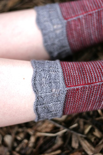 Laurelhurst Socks cuff detail