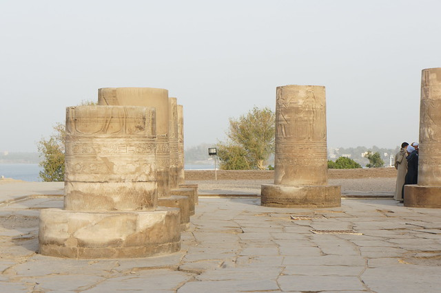 Remains of columns at Egypt's Kom Ombo temple