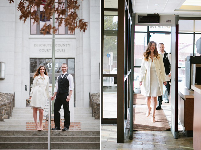 Shawn Ashley Oregon Wedding Or Family And County Deschutes Courthouse Bend Photographer — Emily Courter Elopement Portland