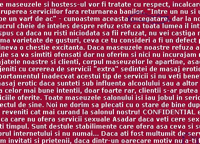 Să masăm erotic limba română