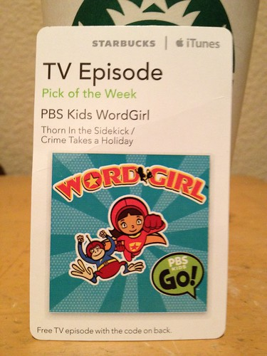 Starbucks iTunes pick of the Week - PBS Kids WordGirl - [TV Episode]