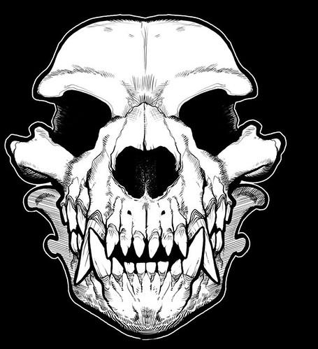 werewolf_skull_sm by missmonstermel