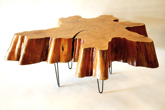 Reclaimed Tree Stump Coffee Table By Mfeo Flickr Photo