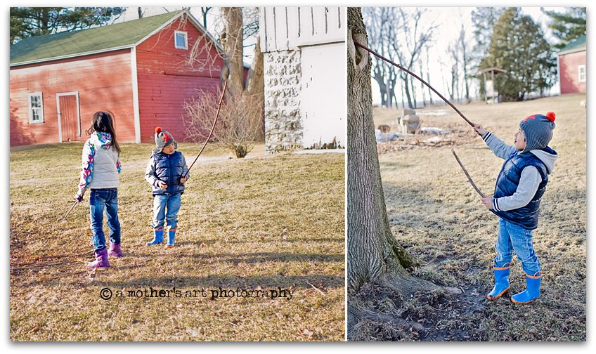 Early Spring Park Diptych