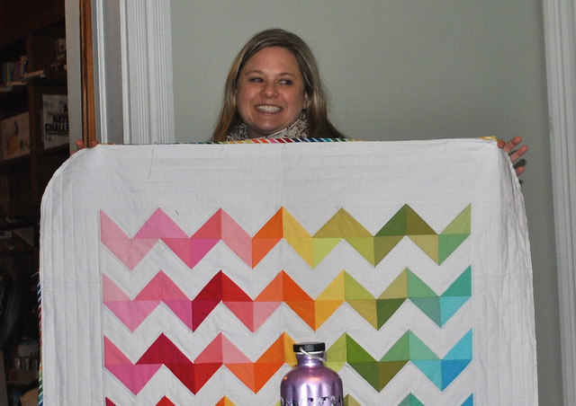 Lindsay's second Friday Night Brights Quilt