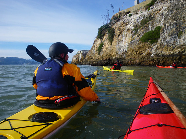 paddling around Alcatrez
