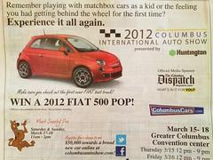 Columbus Dispatch - Bob-Boyd FIAT 500 Pop Giveaway
