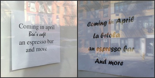 Cafe crisis at 514 East Sixth Street