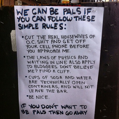 We can be pals if you follow these rules #sxsw by stevegarfield