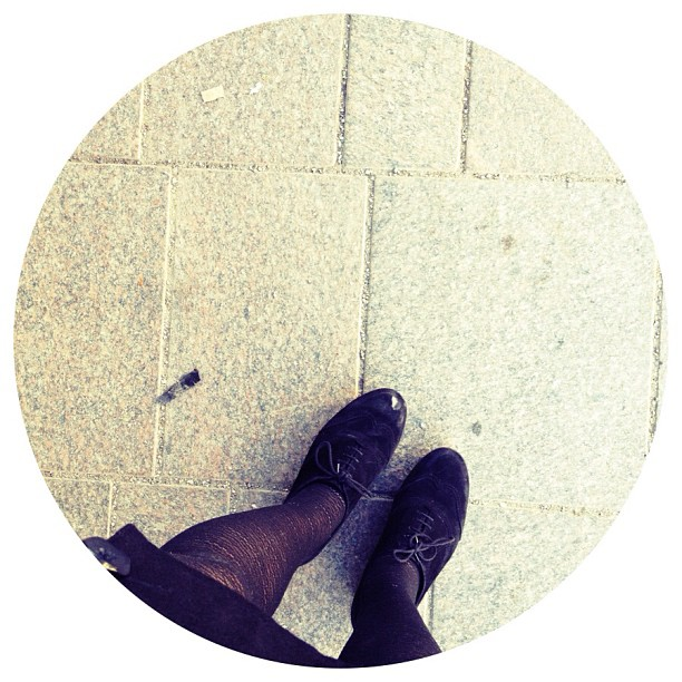 #shoes #legs #fromwhereimstanding #tights #vagabond #suede #flatforms