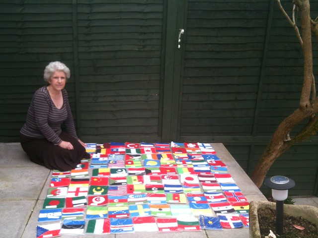100 Crocheted Olympic Flags!