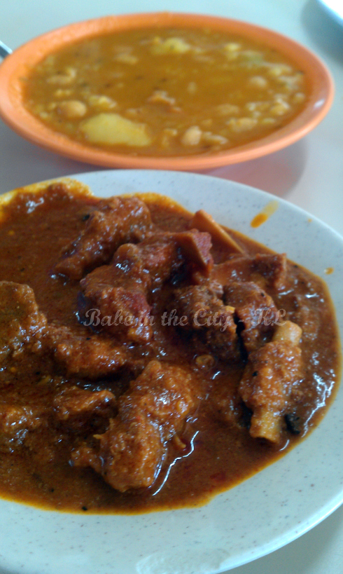 mutton curry & dhal