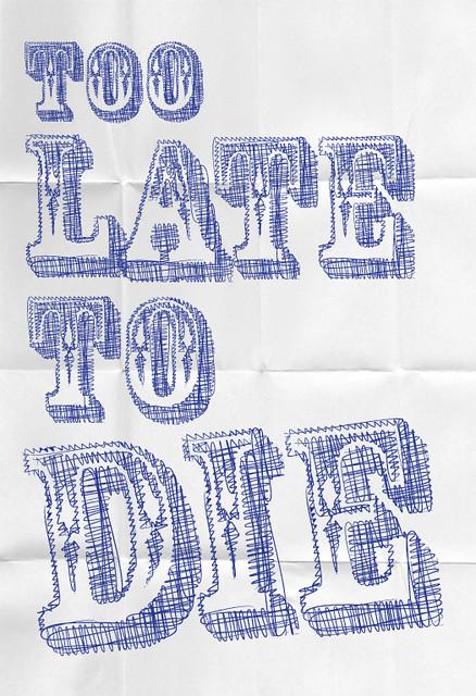 pen font poster by handmadefont