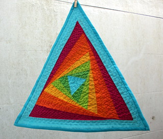 Triangle Tilt Quilt - For The Love of Solids Swap - Round Two