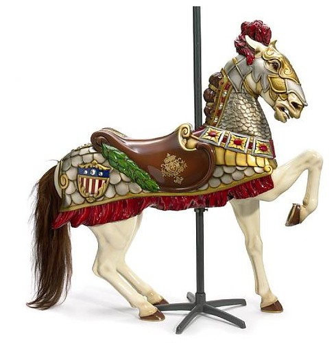 Contemporary fiberglass carousel horse, lot 7260