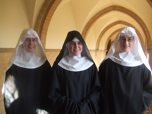 Sr Elizabeth with two novices