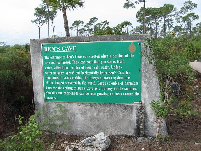 Ben's Cave sign