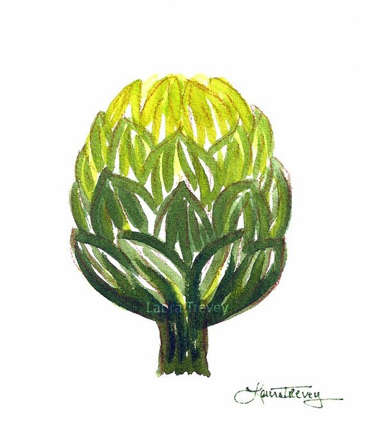 artichoke watercolor print